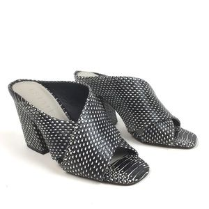 1 State Graible block heel sandal python snakeskin